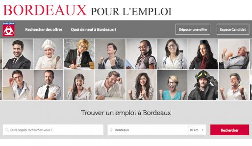 Le site emploi.bordeaux.fr, conçu par Jobi Joba (capture d'écran)