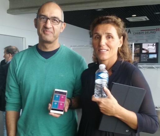 Caroline Guerin-Pigeon et son partenaire de la start up Ecoweego (SB/Rue89 Bordeaux)