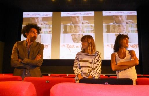 Laurent Laffargue, Céline Sallette et Romane Bohringer lors de l'avant-première à Casteljaloux (Céline Belliard/Rue89 Bordeaux)