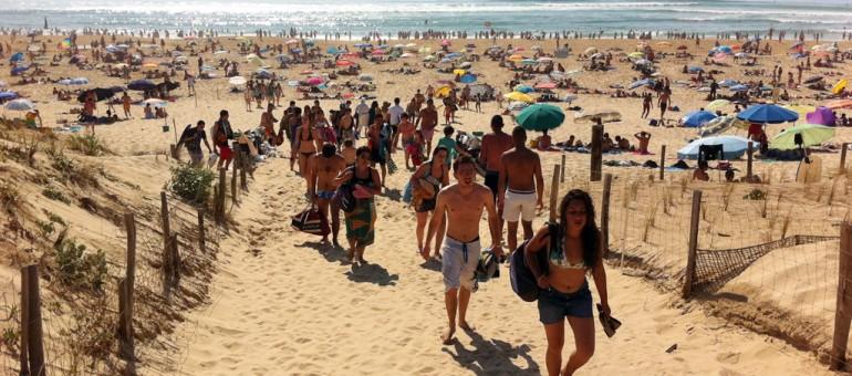 Les plages face aux marées de Bordelais