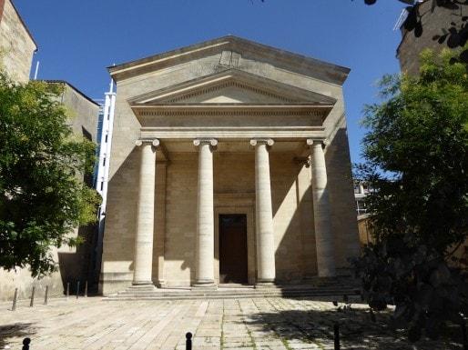 Le temple des Chartrons, rue Notre Dame à Bordeaux (Wikimedia Commons)
