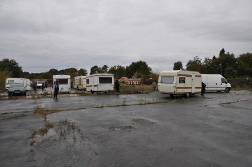 Les Roms ont dû chercher un nouveau terrain où dormir à Mérignac (Xavier Ridon/Rue89 Bordeaux)