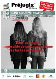 Affiche Préjugix, le médicament anti-préjugés