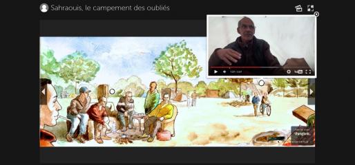 Bordeaux - Sahraouis, le campement des oubliés (Capture d'écran)