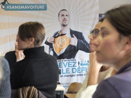 Ultime réunion des participants bordelais à l'opération SansMaVoiture (SB/Rue89 Bordeaux)