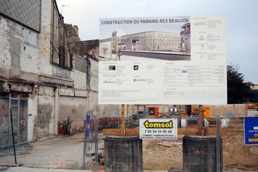 Les travaux du parking prévu à la barrière du Médoc ont déjà démarré (WS/Rue89 Bordeaux)