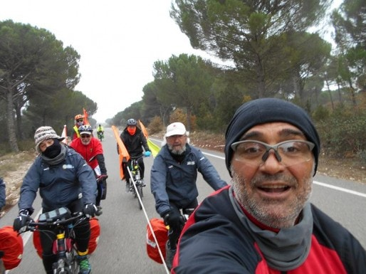 Les cyclistes espagnoles lors de la 12e étape entre Cuellar et Valladolid (Blog Marcha Bici)