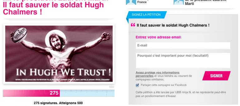 Une pétition pour le maintien de Hugh Chalmers à l'UBB