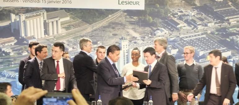 Chez Lesieur, Valls célèbre l'agrobusiness