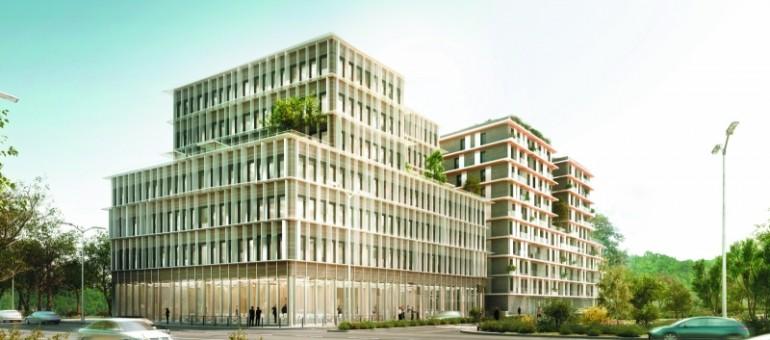 Le bâtiment bois, vitrine verte de Bordeaux Euratlantique