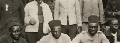 """Photo de tirailleurs sénégalais, extraite de l'exposition """"Frères d'âme"""" (DR)"""