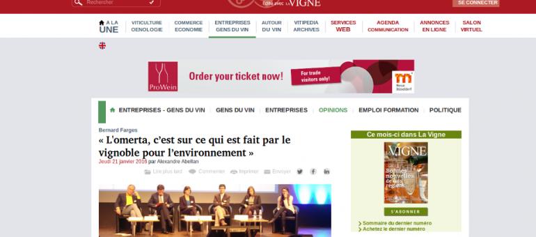 Tension au forum environnement des vins de Bordeaux