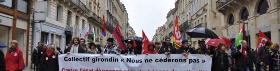 Plus d'un millier de personnes a défilé contre l'état d'urgence à Bordeaux (Xavier Ridon/Rue89 Bordeaux)