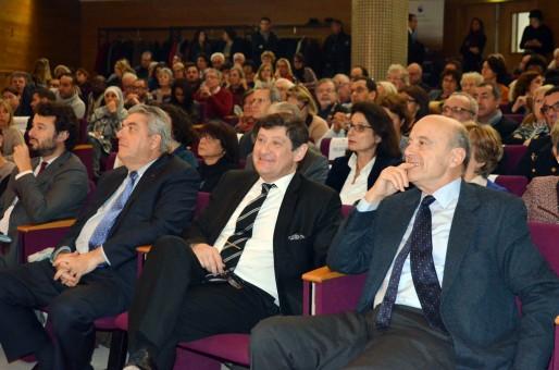 Le préfet Pierre Dartout, le ministre Patrick Kanner, le maire de Bordeaux Alain Juppé (MTN/Rue89 Bordeaux)