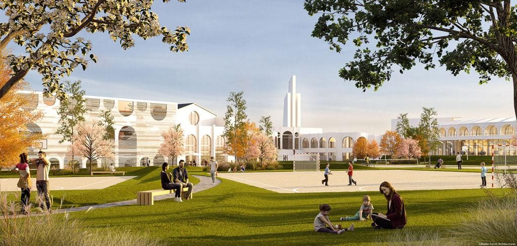 Lescure mairie et ubb au soutien du projet adim ferret for Delmas architecte