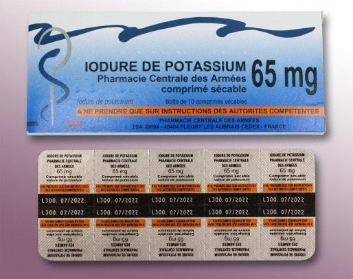Des pastilles d'iode comme celles-ci sont distribuées dans le Blayais et le Médoc (ASN)