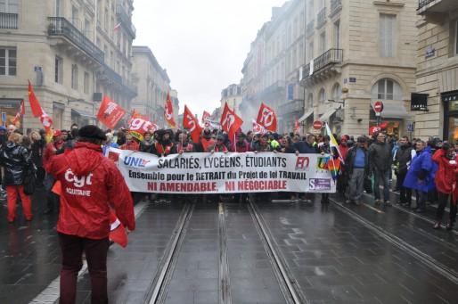 30000 manifestants étaient présents à Bordeaux selon la CGT (Xavier Ridon/Rue89 Bordeaux)