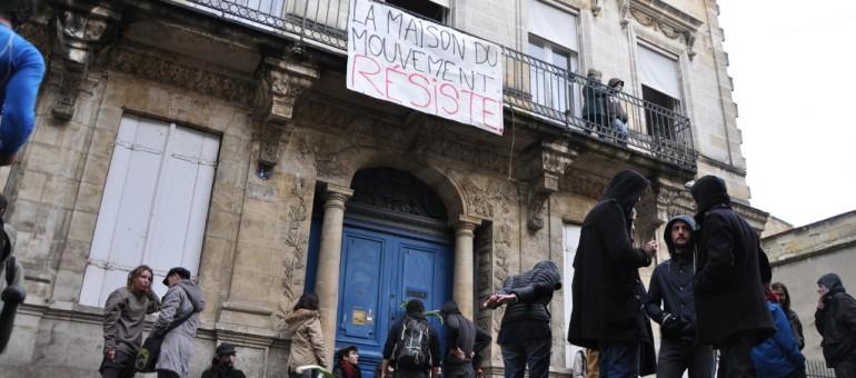En marge de Nuit Debout, la maison du mouvement ouverte à Bordeaux