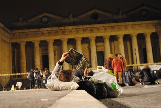 Même la Nuit Debout s'achève à l'horizontale (WS/Rue89 Bordeaux)