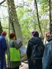 Elus verts et habitants constatent l'étendue de l'installation. DR Florence Heimburger
