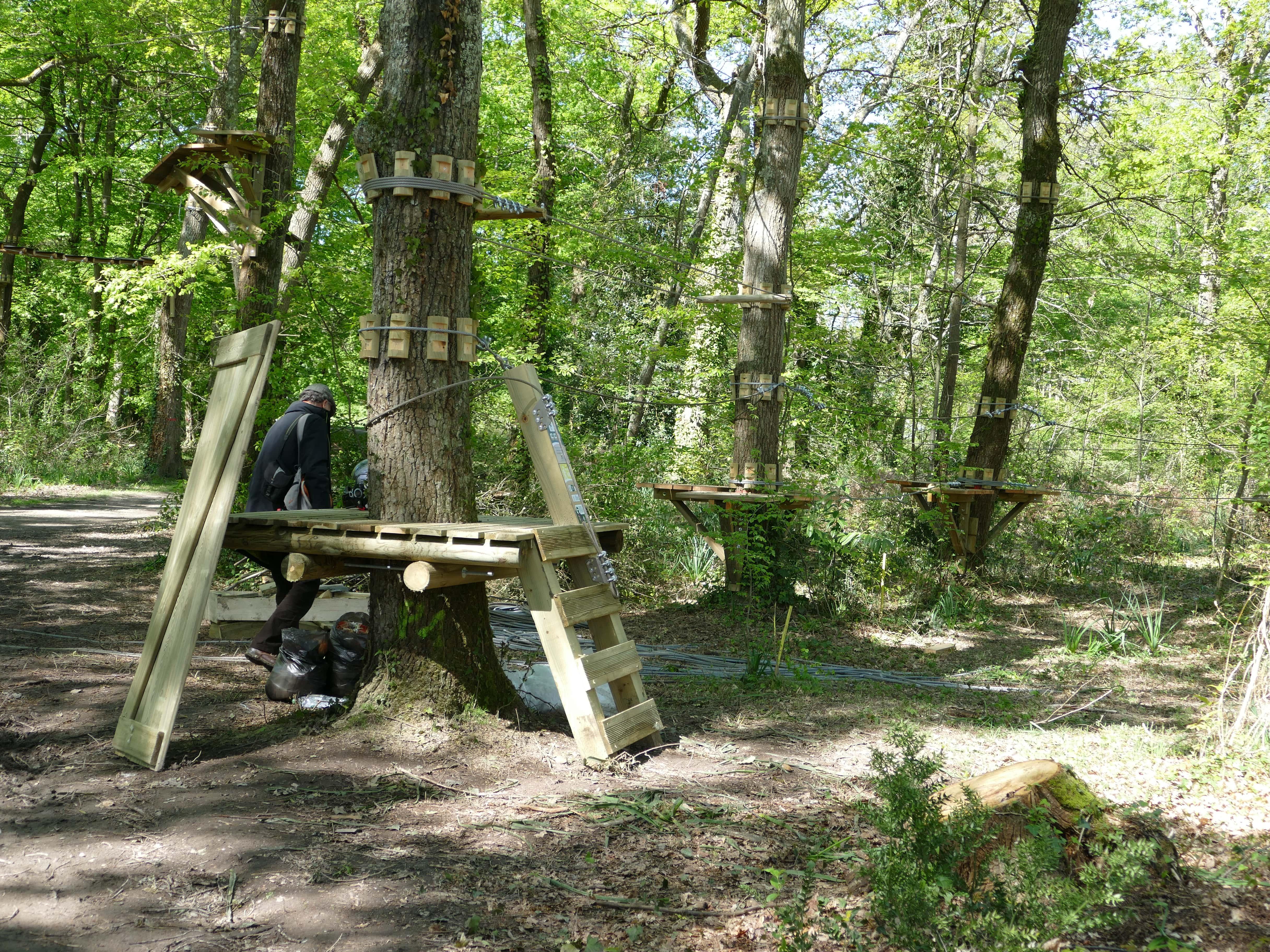 Bois de Thouarsà Talence l u2019accrobranche de la discorde Rue89 Bordeaux # Accrobranche Saint Léonard Des Bois