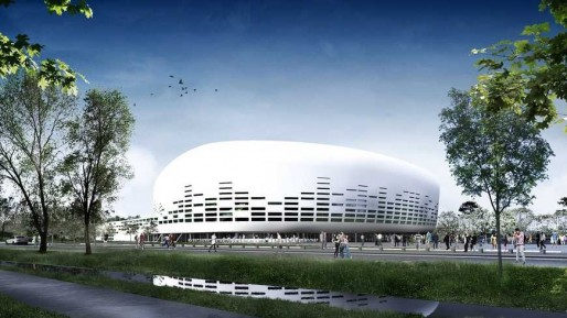 La future Bordeaux Métropole Arena (Lagardère Unlimited/Agence Rudy Ricciotti)
