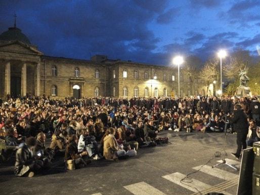 Plus de 1000 personnes ont participé à l'AG de Nuit Debout (SB/Rue89 Bordeaux)