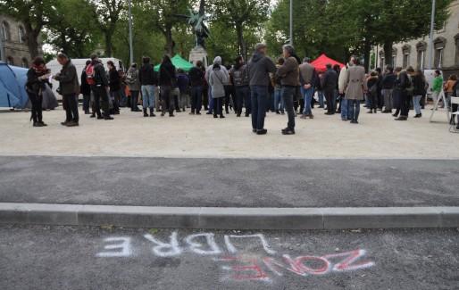 La zone libre et hors-Tafta, place de la République à Bordeaux (Xavier Ridon/Rue89 Bordeaux)