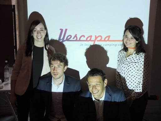 L'équipe de Yescapa ce jeudi au Club de la presse de Bordeaux (SB/Rue89 Bordeaux)