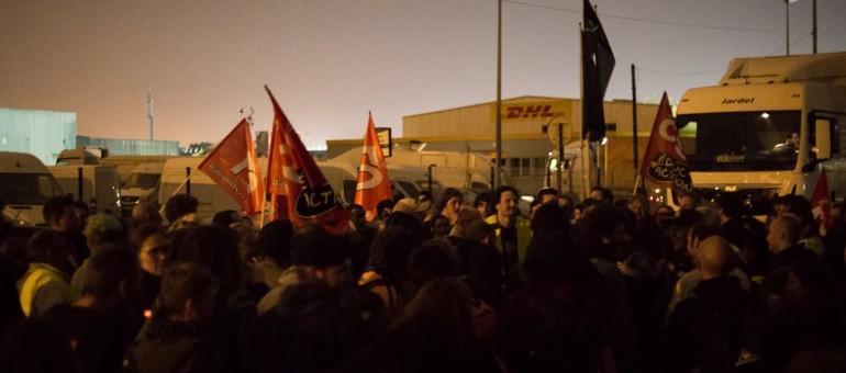 Loi Travail : la zone de fret de Bruges et le port de Bordeaux bloqués