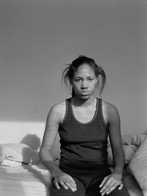 LaToya Ruby Frazier Self Portrait (Lupus Attack) , 2005 Notion of Family tirage gélatino-argentique, monté sur carton, cadre bois Courtesy the artist and Michel Rein, Paris/Brussels
