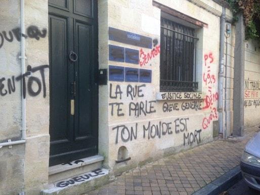 La permanence de Michèle Delaunay a été taguée dans la nuit de jeudi à vendredi (DR)