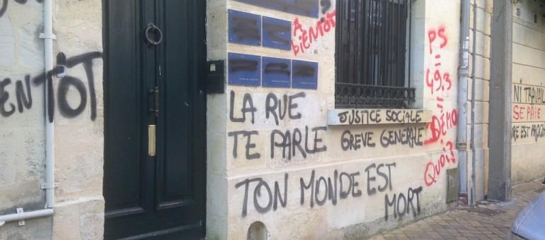 La permanence de Michèle Delaunay taguée