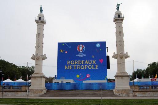 La Fan Zone sur la place des Quinconces à Bordeaux (WS/Rue89 Bordeaux)