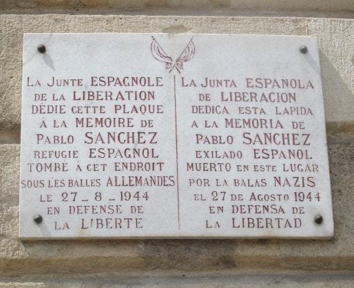 Hommage au résistant Pablo Sanchez. (AP/Rue89 Bordeaux)