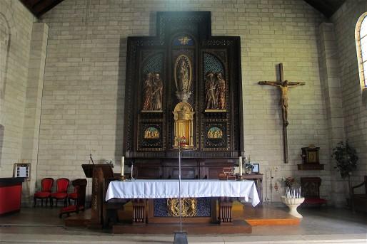 Un dimanche sur deux, l'église El Solar donne une messe en espagnol. (AP/Rue89 Bordeaux)