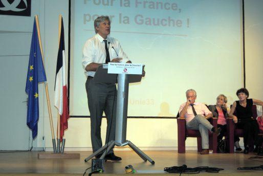 Stéphane Le Foll venu pour une réunion publique à l'Athénée municipal de Bordeaux (WS/Rue89 Bordeaux)