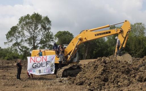 Les travaux de terrassement ont débuté dans la zone Natura 2000 (SB/Rue89 Bordeaux)