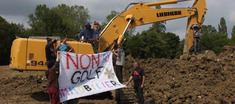ZAD du golf de Villenave : deux garde à vue après blocage des travaux