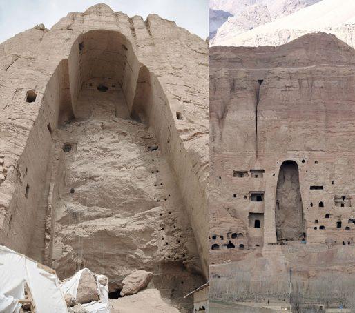 Les niches des Bouddhas de Bamiyan (© Pascal Convert)