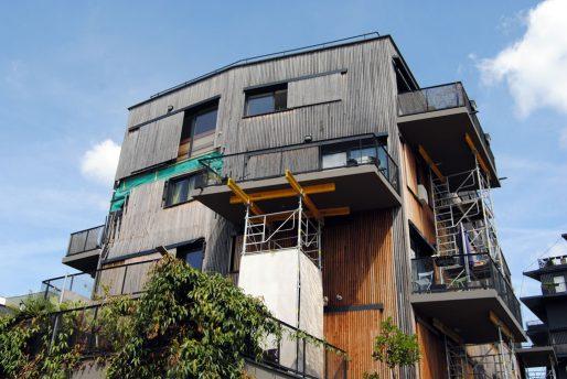 Les habitants de la résidence n'avaient plus d'accès à leurs balcons (WS/Rue89 Bordeaux)