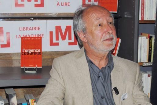 """Jérôme Clément, venu présenter son livre """"L'Urgence culturelle"""" à La Machine à Lire dans le cadre des rencontres Idéo (WS/Rue89 Bordeaux)"""