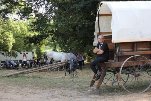 Jacky Prunis gère la cavalerie du spectacle depuis 30 ans (MD/Rue89 Bordeaux)