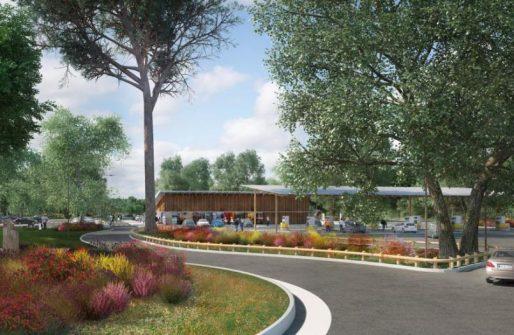 Un des aménagements prévus pour la nouvelle aire (Atelier Giet Architecture)