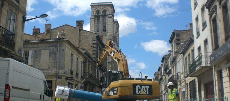 La rue Fondaudège encaisse bien le chantier du tramway