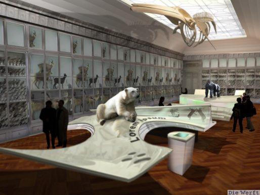 Aperçu de la future galerie du deuxième étage (Die Werft)