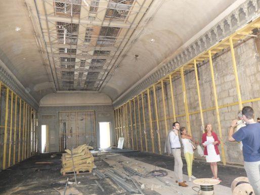 La galerie du deuxième étage en chantier (SB/Rue89 Bordeaux)