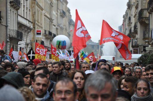 Cours de l'Intendance manifestation contre la Loi Travail du 31 mars (illustration - XR/Rue89 Bordeaux)