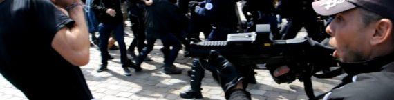 Tension en fin de manifestation (Capture d'écran - Vidéo Rue89 Bordeaux)