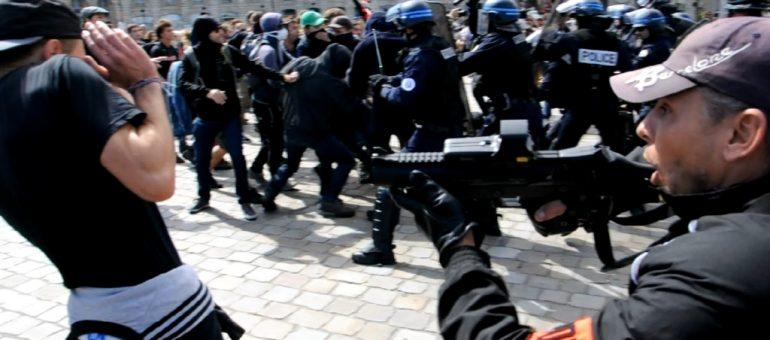 Confrontations dans la manif  anti-Loi Travail à Bordeaux